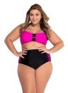 Rosy Bandeau High Cintura Bikini Swimsuit