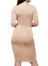 Bandage Deep V-Neck Long Sleeves Bodycon Dress