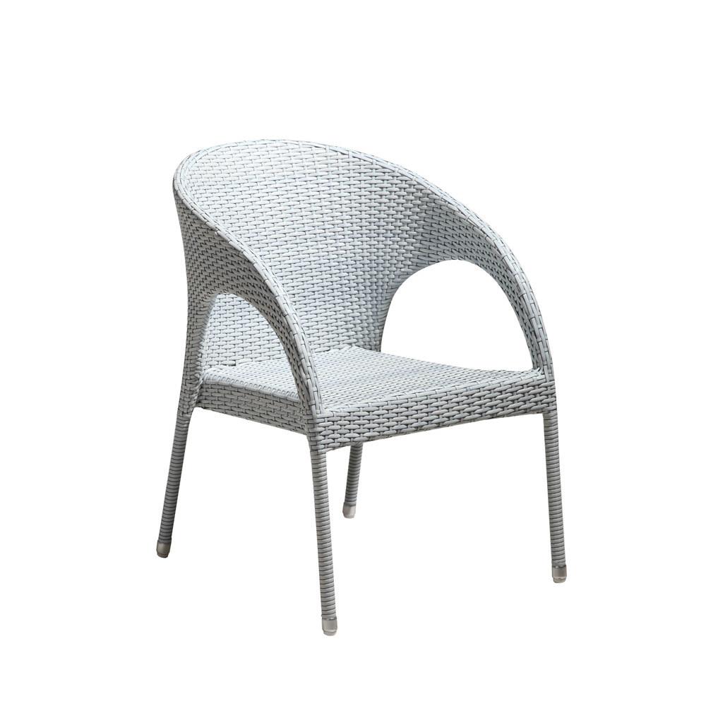d s fauteuil de jardin blanc en r sine tress e et. Black Bedroom Furniture Sets. Home Design Ideas