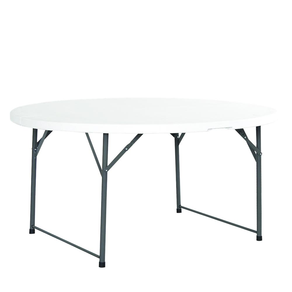 Table pliante ronde dia 150cm poly thyl ne - Table de reception pliante ...