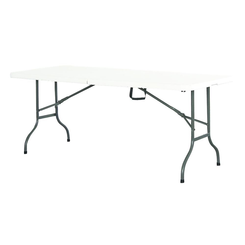 table de r ception plateau et pieds pliants 180cm blanc. Black Bedroom Furniture Sets. Home Design Ideas