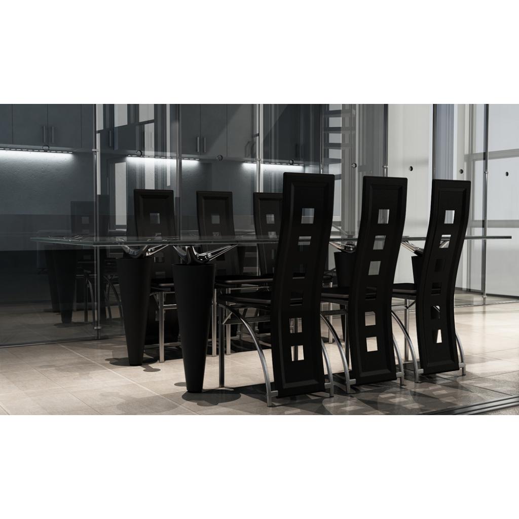 Only chaises contemporaines cuisine pranzo6 for Chaise de cuisine en cuir noir