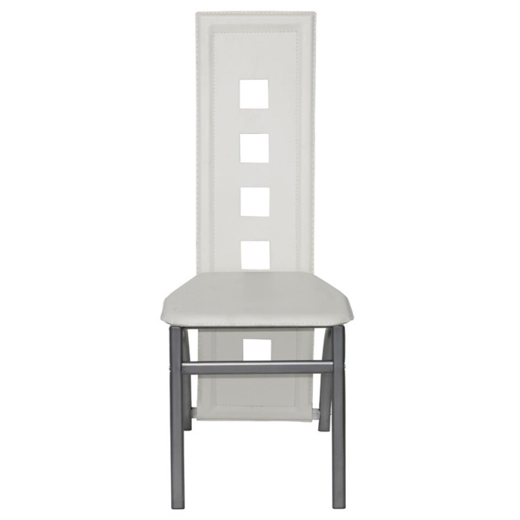 Solo 175.12€, 6 Sala sedie in pelle Cromo Bianco - LovDock.com