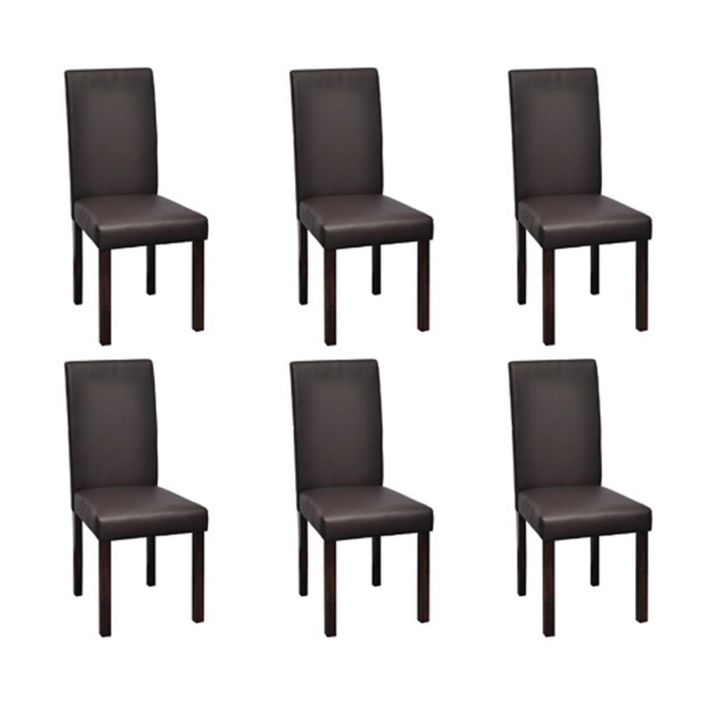 Außergewöhnlich Stühle Esszimmer Foto Von Stühle (6 Stück) Dunkelbraun