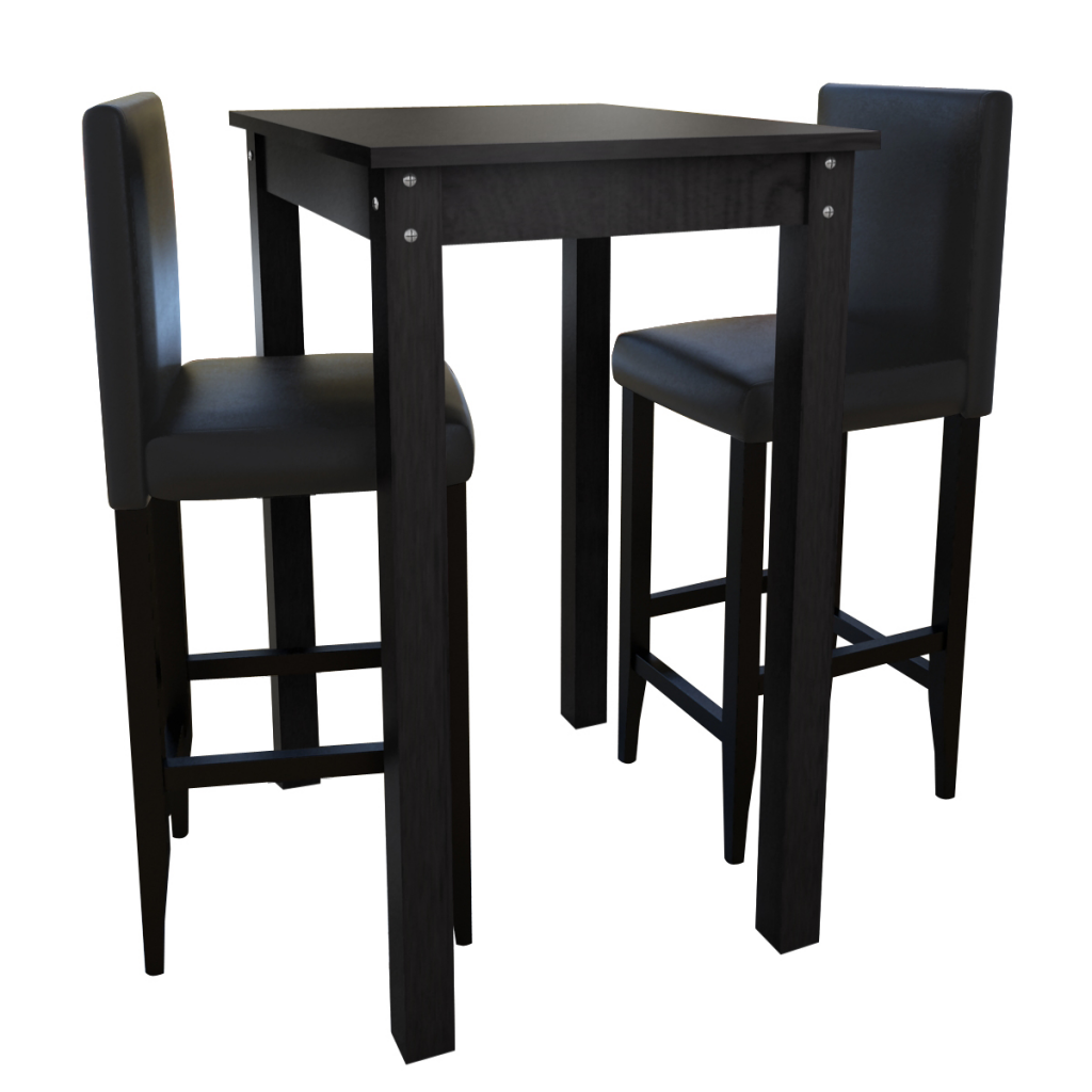 Sólo 151.10€, 2 taburetes de bar con mesa de bar mesa de juego de ...