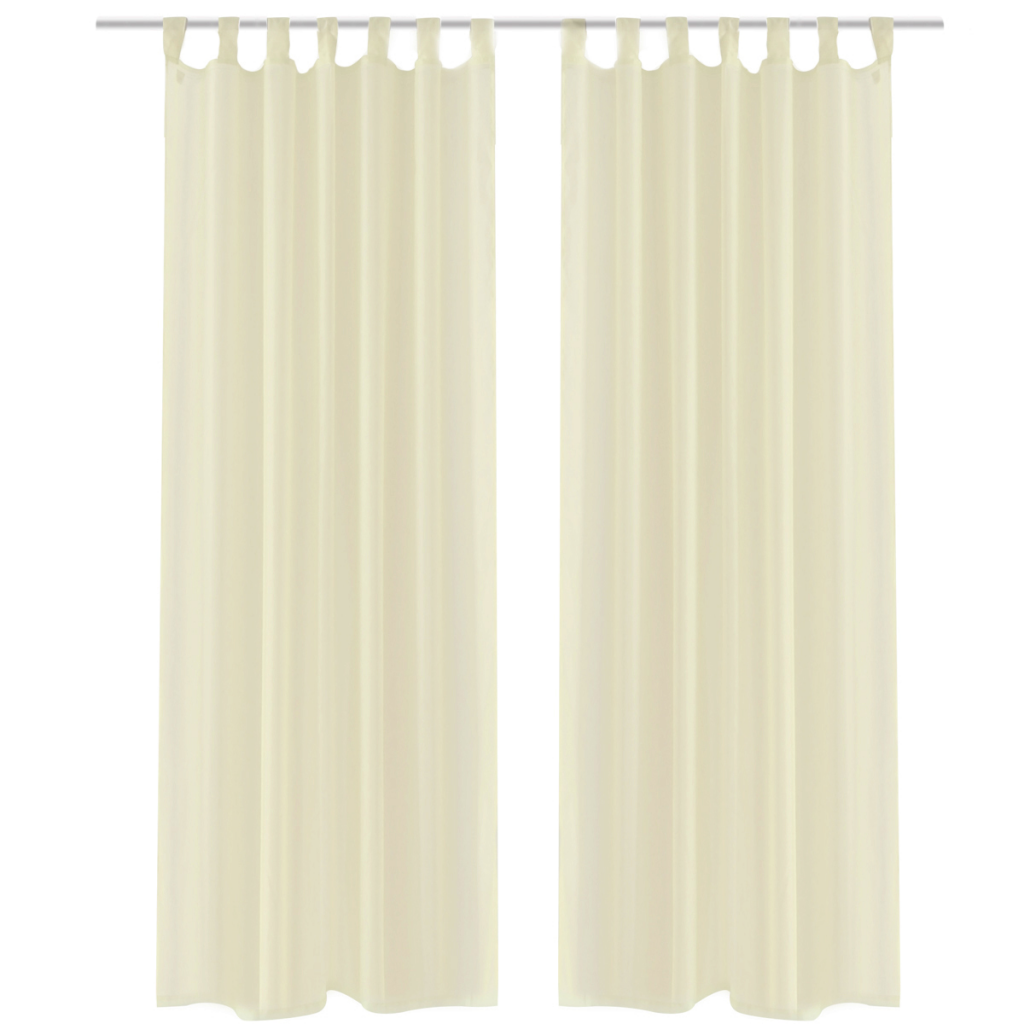 Cream Sheer Curtain 140 x 245 cm 2 pcs - LovDock.com for Yellow Curtains Png  45ifm