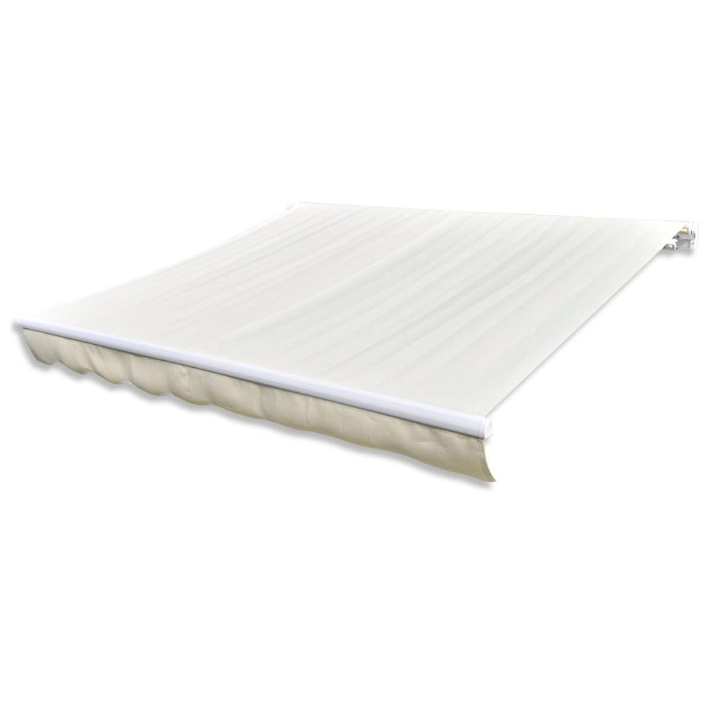 toile pour store banne blanc cr me 6 x 3 m. Black Bedroom Furniture Sets. Home Design Ideas