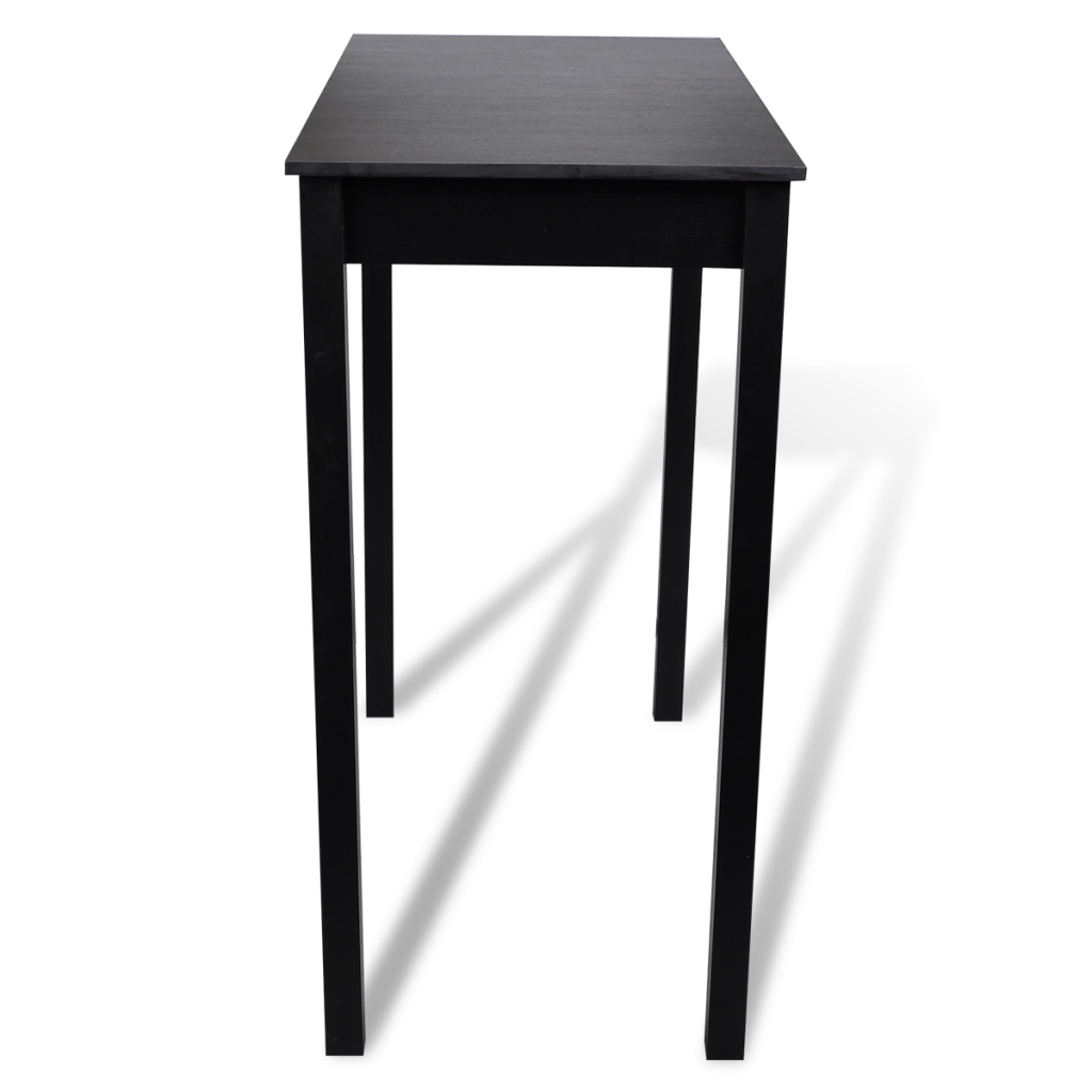 set de 1 table de bar et 2 tabourets noir. Black Bedroom Furniture Sets. Home Design Ideas