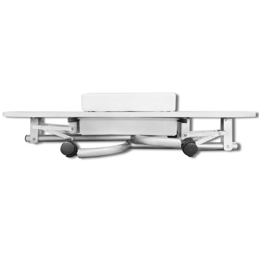white White Foldable Manicure Nail Table with Castors - LovDock.com