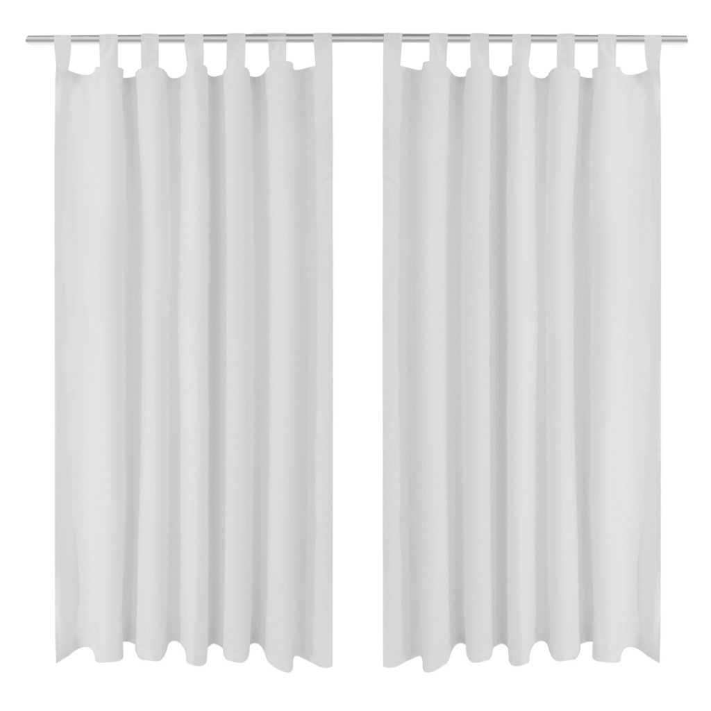 """white 2 pcs White Micro-Satin Curtains with Loops 55"""" x 96 ... for White Curtains Png  557yll"""