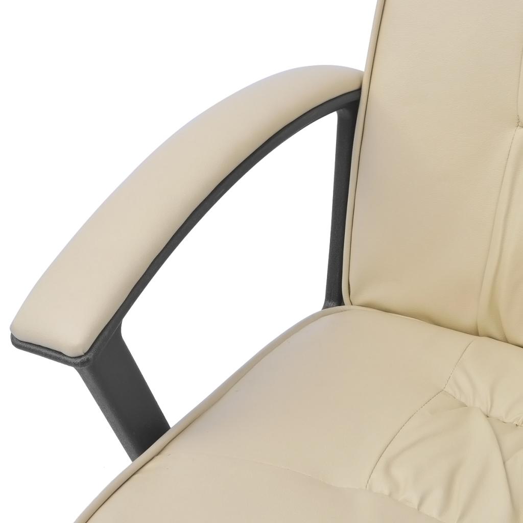 Sólo 70.96€, vidalXL silla de oficina de cuero sintético 67x70 cm ...