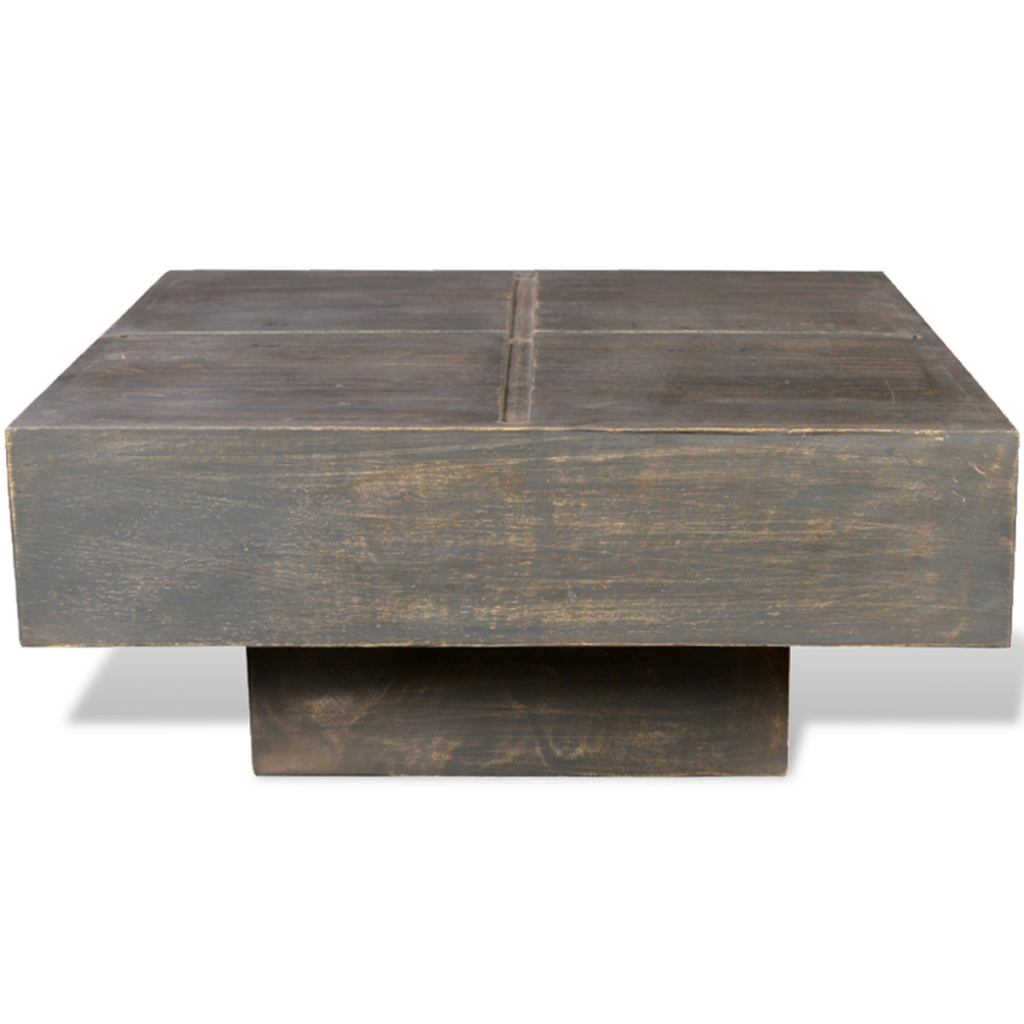 Coffee Table In Black Antique Mango Wood