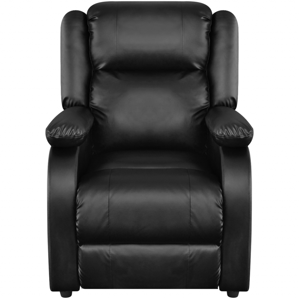 Electric Massage Chair Black Imitation Leather Armchair TV