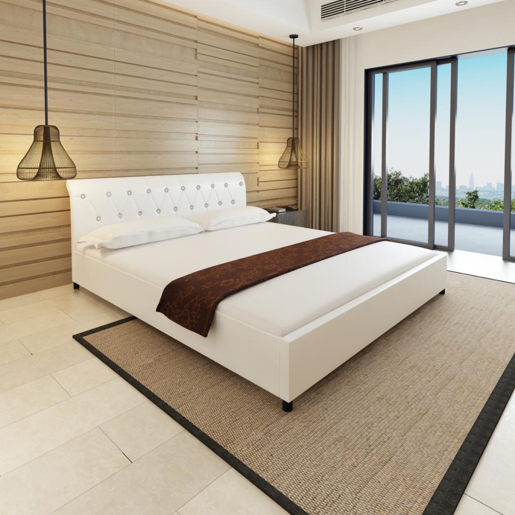 Sólo 346.19€, cama de piel sintética acolchada colchón 180 x 200 cm ...