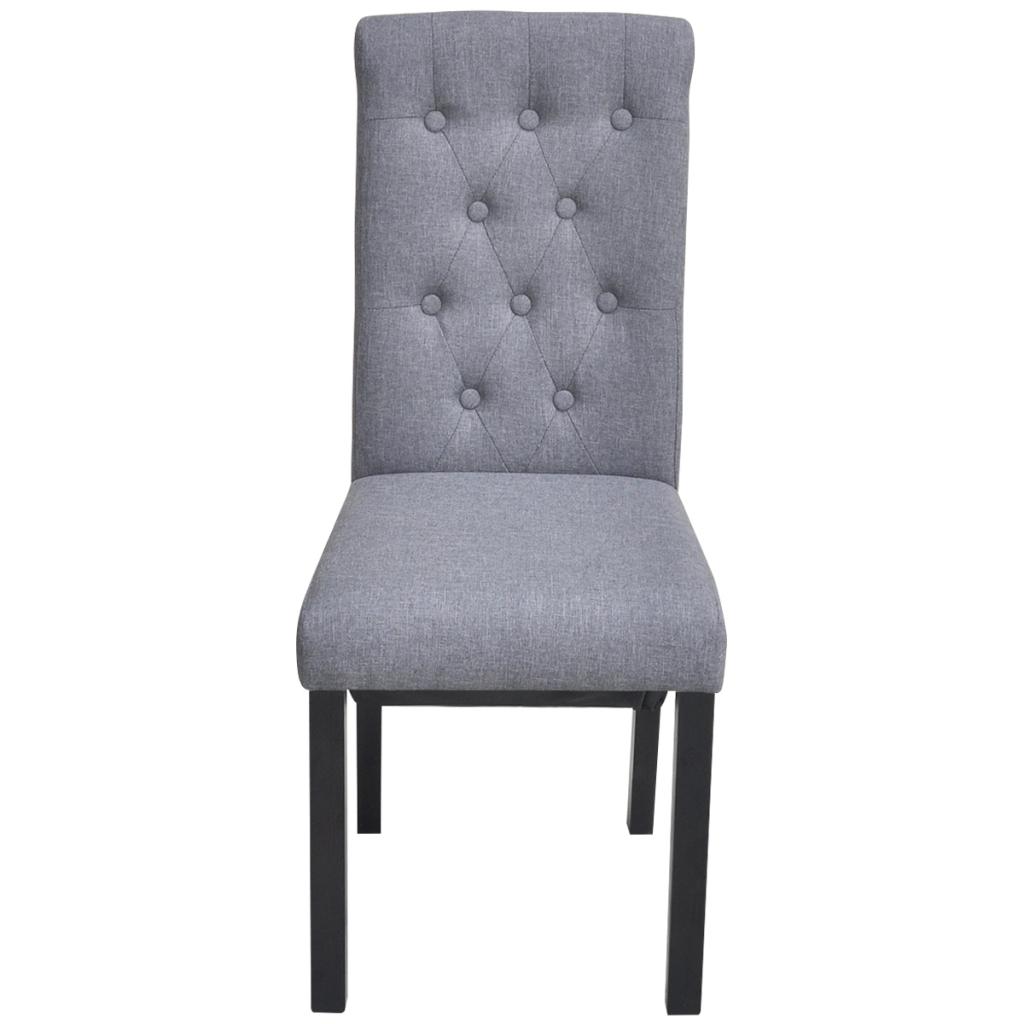Sólo 214.50€, 4 sillas de comedor de tela con respaldo alto, de ...