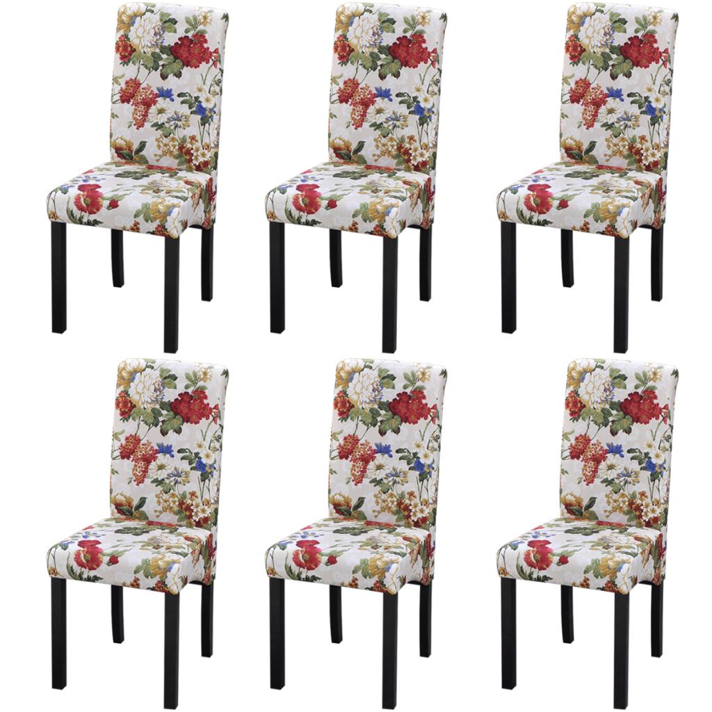 Sólo 214.02€, sillas comedor de madera diseño floral 6 uds (242398 + ...