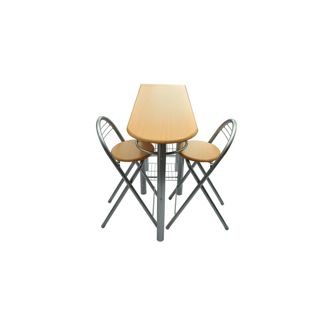 S lo cocina barra de desayuno mesa y sillas for Sillas para barra en madera