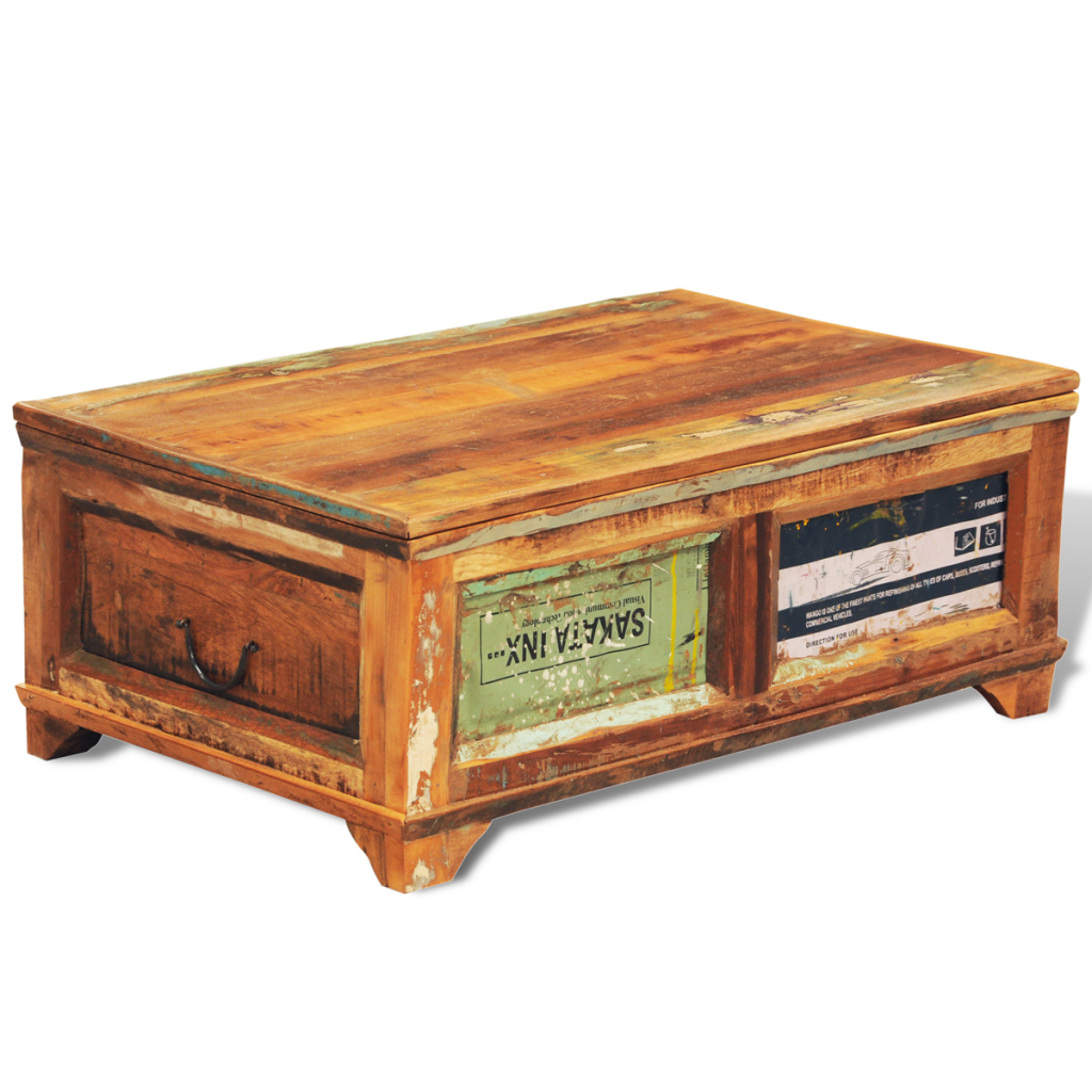 Nur 195 64 Altholz Aufbewahrungsbehalter Couchtisch Vintage Antike