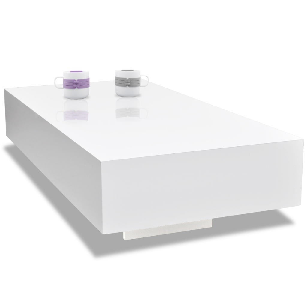 White white high gloss coffee table 115 cm lovdock white high gloss coffee table 115 cm geotapseo Image collections