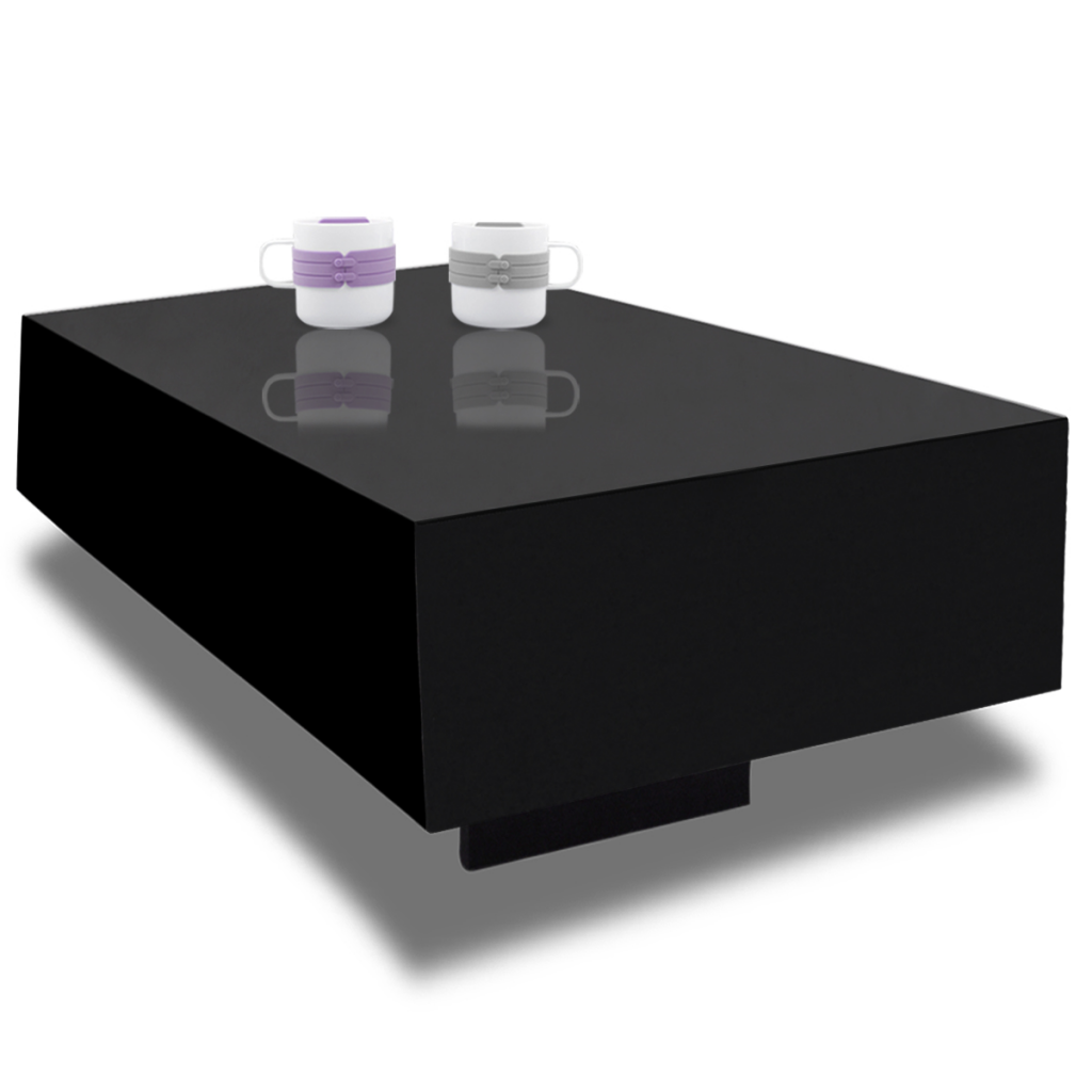 Black black high gloss coffee table 85 cm lovdock black high gloss coffee table 85 cm geotapseo Image collections