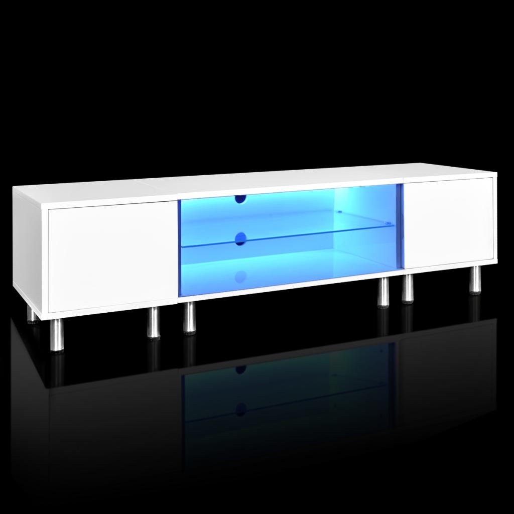 nur led wei hochglanz tv st nder 160 cm. Black Bedroom Furniture Sets. Home Design Ideas