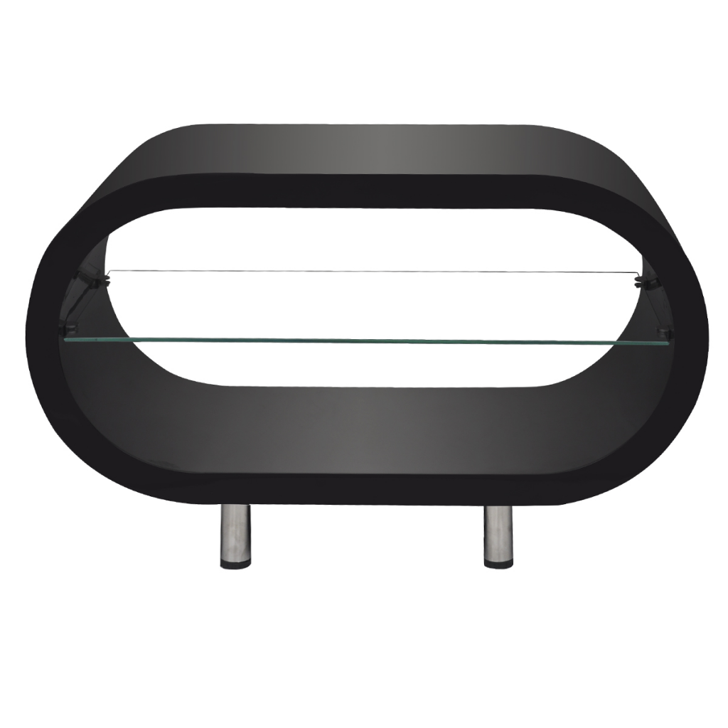 Black high gloss black coffee tabletv stand oval lovdock high gloss black coffee tabletv stand oval geotapseo Images