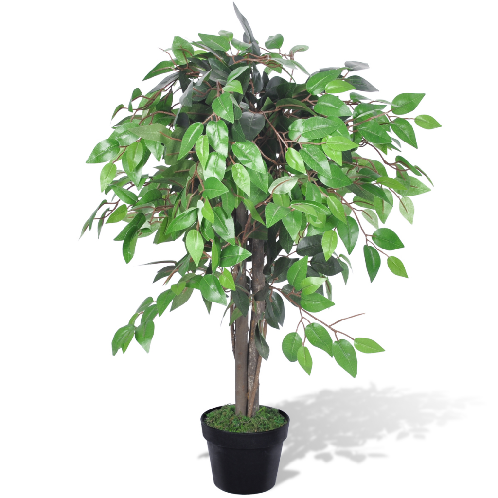 artificial plant ficus tree with pot 90 cm - lovdock