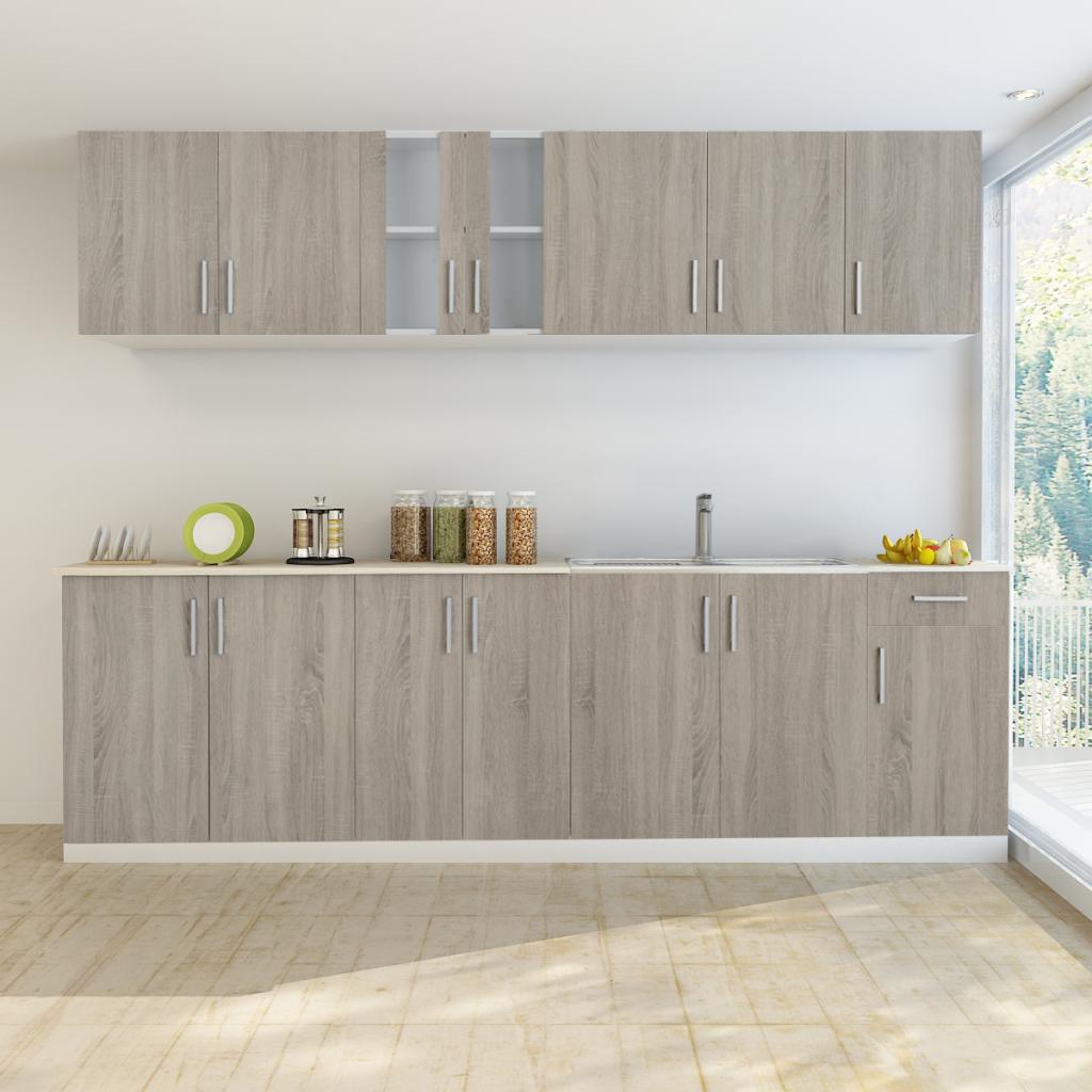 Nur 626.94€, Oak Blick Küchenschrank mit Unterschrank für Spüle 8 ...