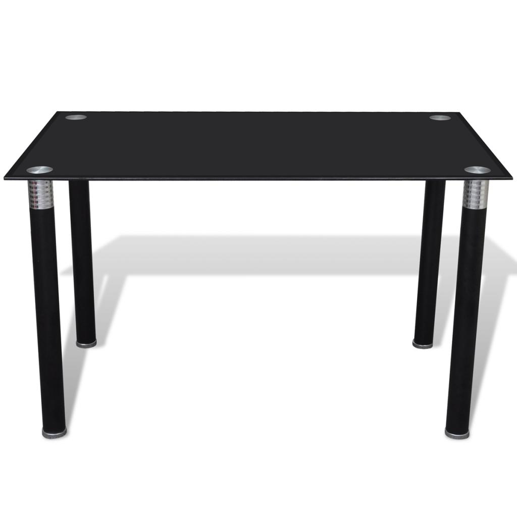 Only 95 75 Verre Noir Top Dining Table Lovdock Com