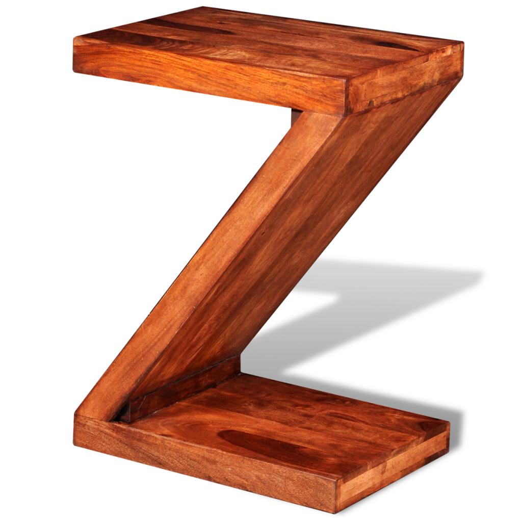 Sólo 81.48€, Sheesham sólido Mesa lateral en forma de Z Madera ...