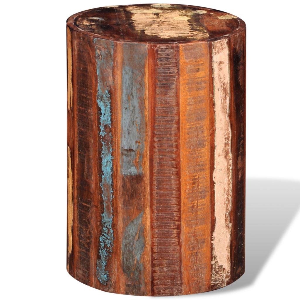 Recuperada de madera sólida del cilindro de heces