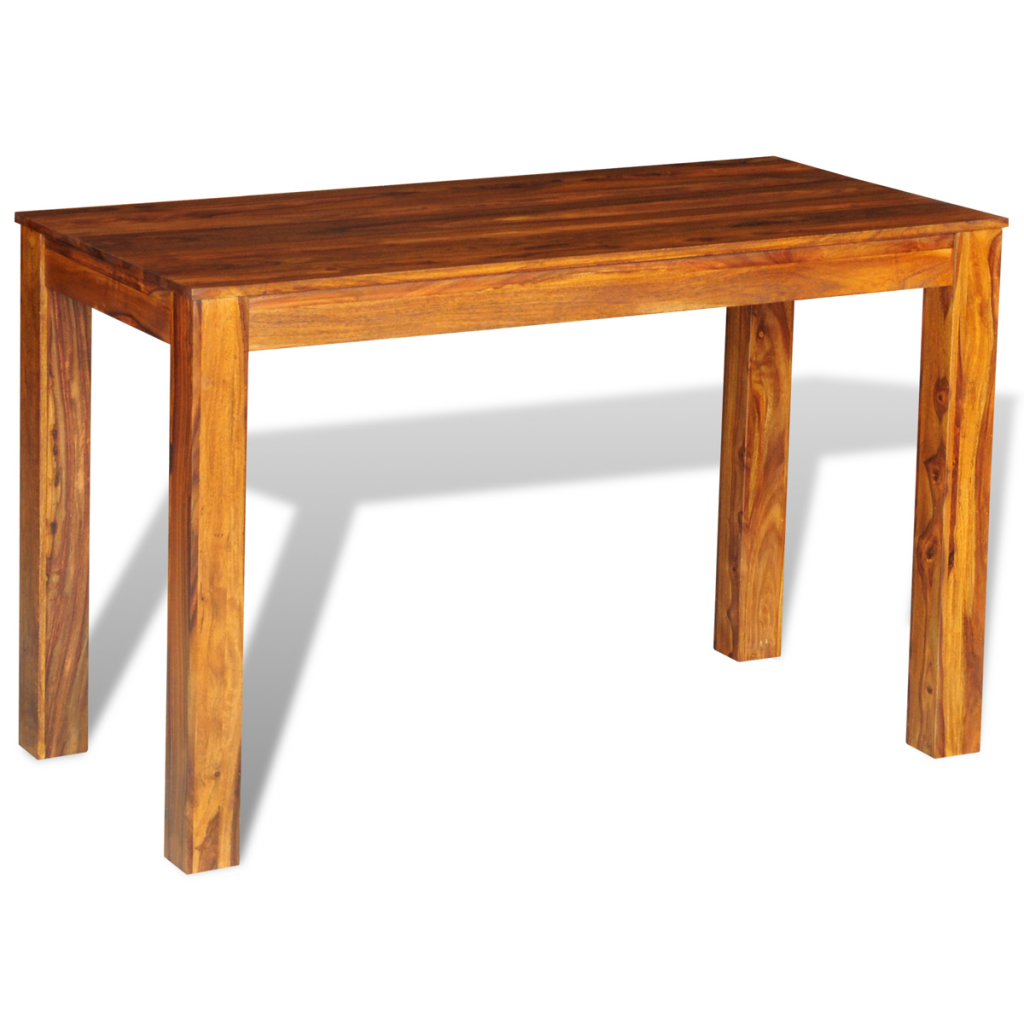 wood sheesham solid wood dining table 120 x 60 x 76 cm. Black Bedroom Furniture Sets. Home Design Ideas