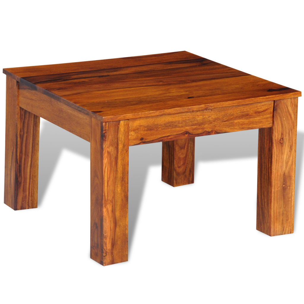 Wood Sheesham Solid Wood Coffee Table 60 X 60 X 40 Cm