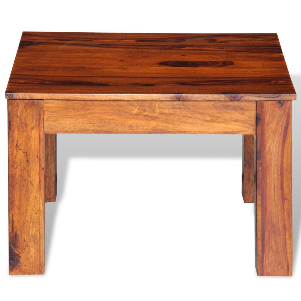 wood Sheesham Solid Wood Coffee Table 60 x 60 x 40 cm LovDock