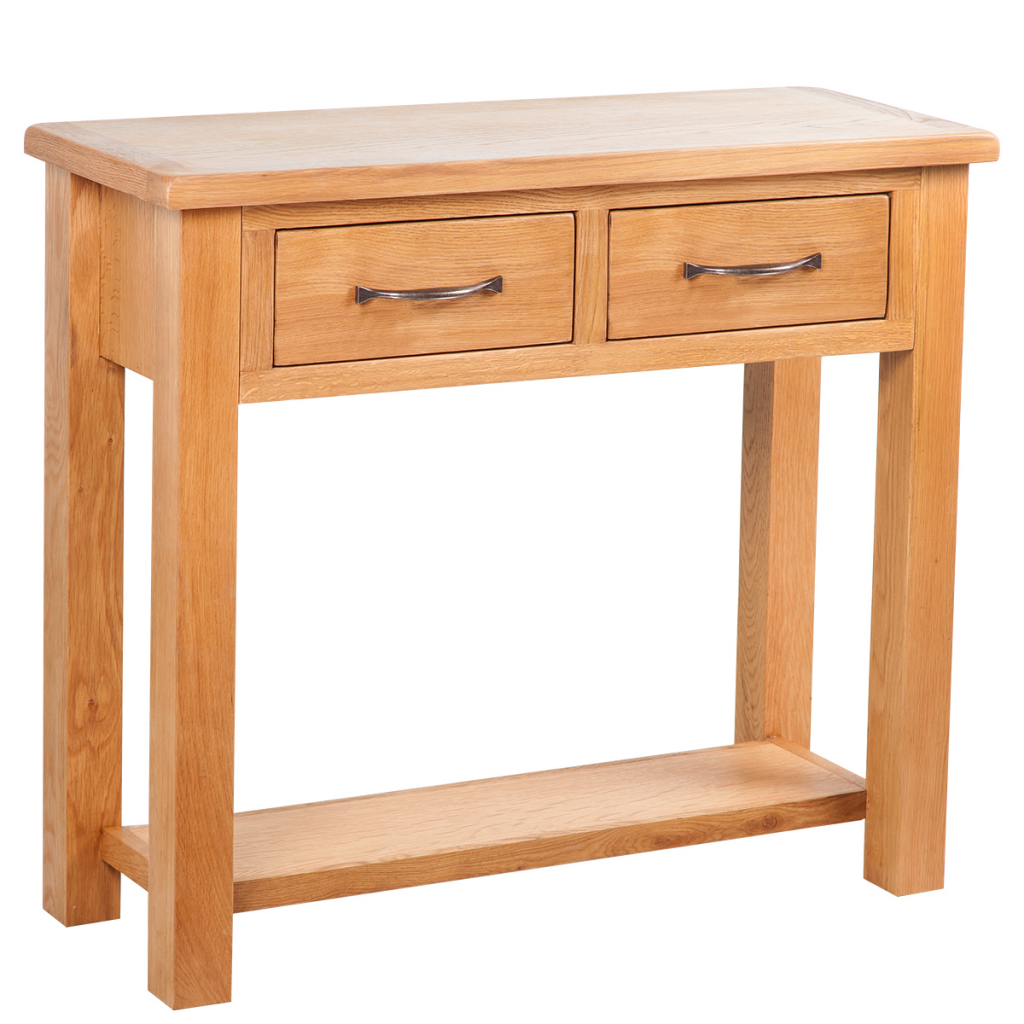 hallway table with drawers 2. Console Table With 2 Drawers 83 X 30 73 Cm Oak Hallway N