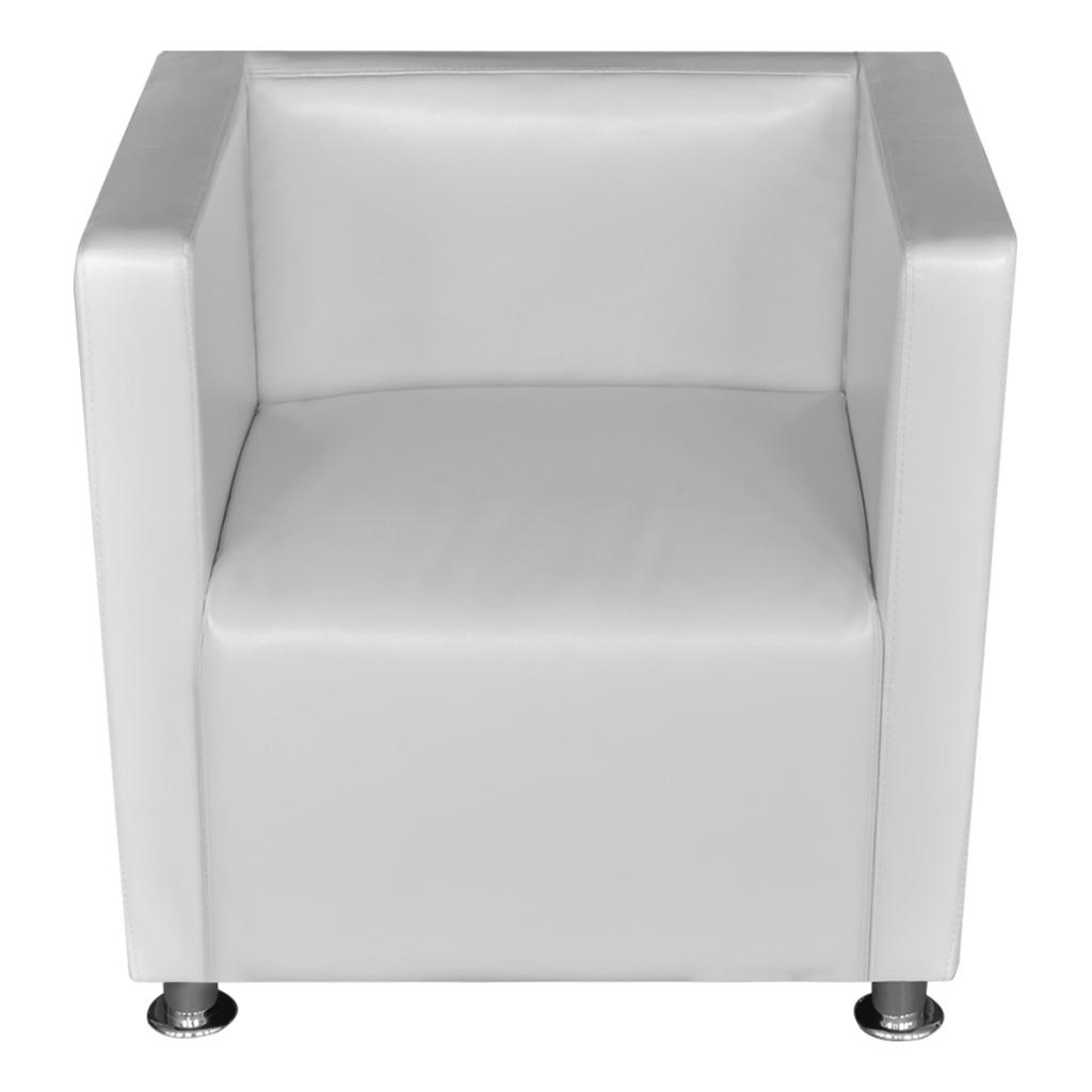 nur wei kunstleder sessel. Black Bedroom Furniture Sets. Home Design Ideas