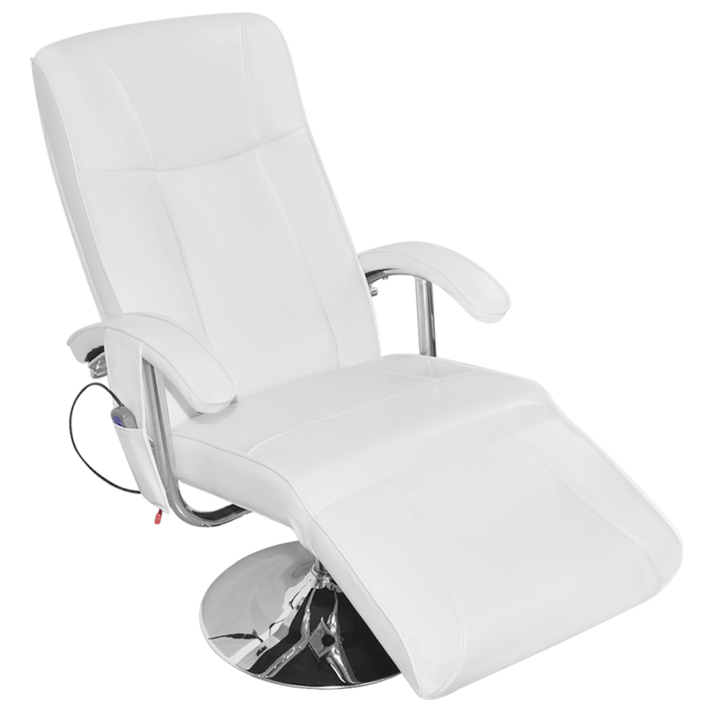 White Artificial Leather Electric Tv Recliner Mage Chair
