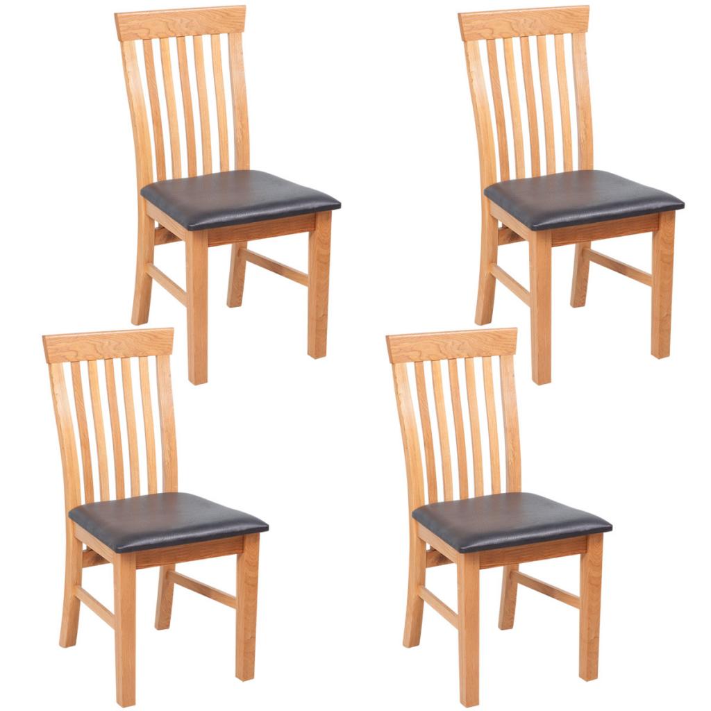 Sólo 200.99€, 4 sillas de comedor de roble de madera maciza con ...