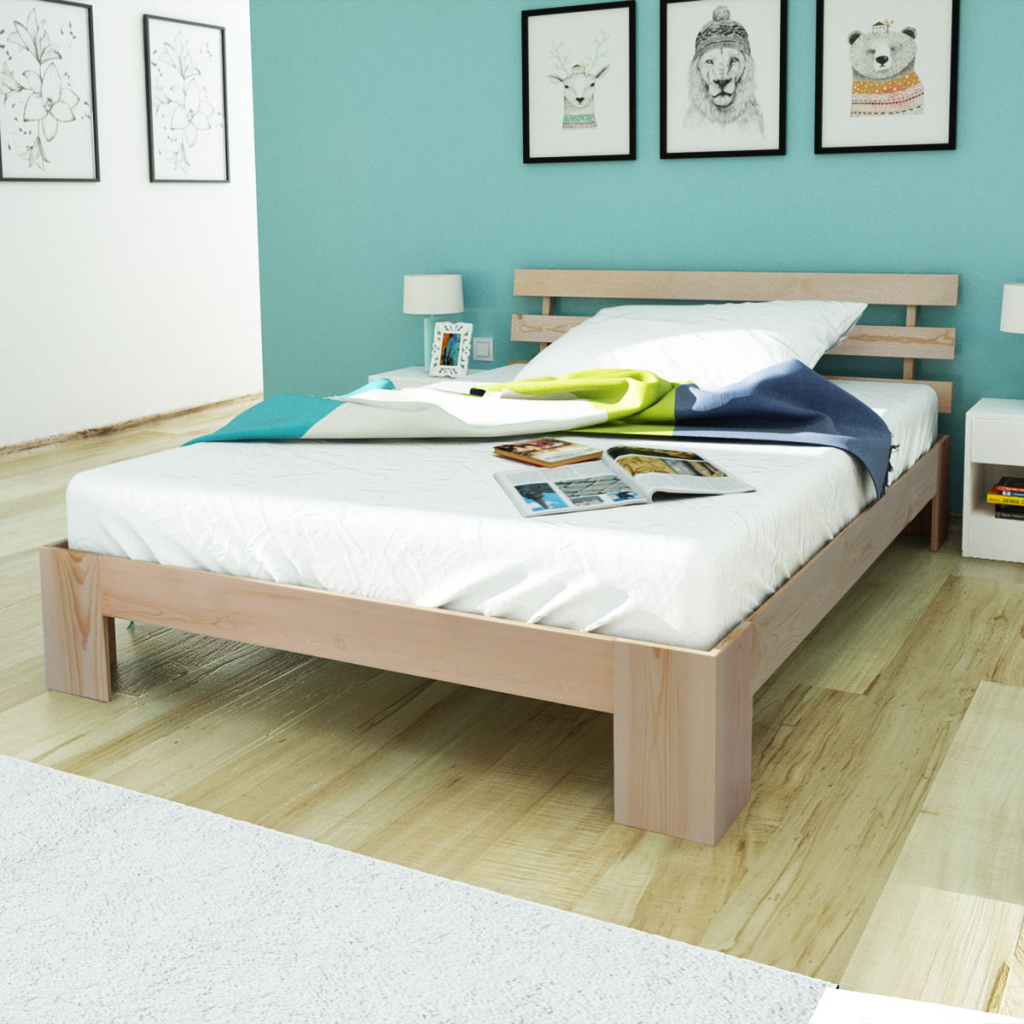 Bed 140 Cm.Natural Natural Solid Pinewood Bed 200 X 140 Cm Lovdock Com