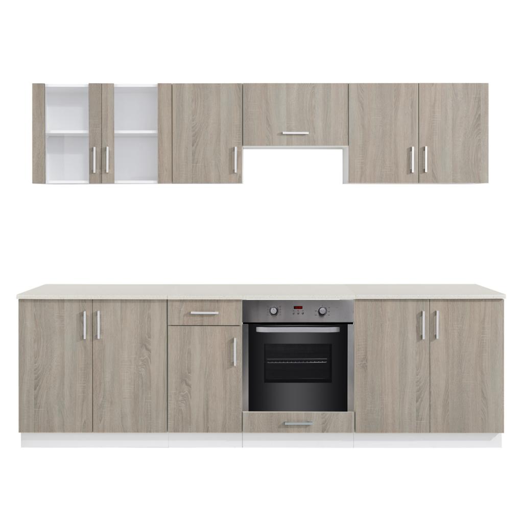 Solo 1,019.44€, Oak sguardo Unità Mobile cucina con forno da incasso ...