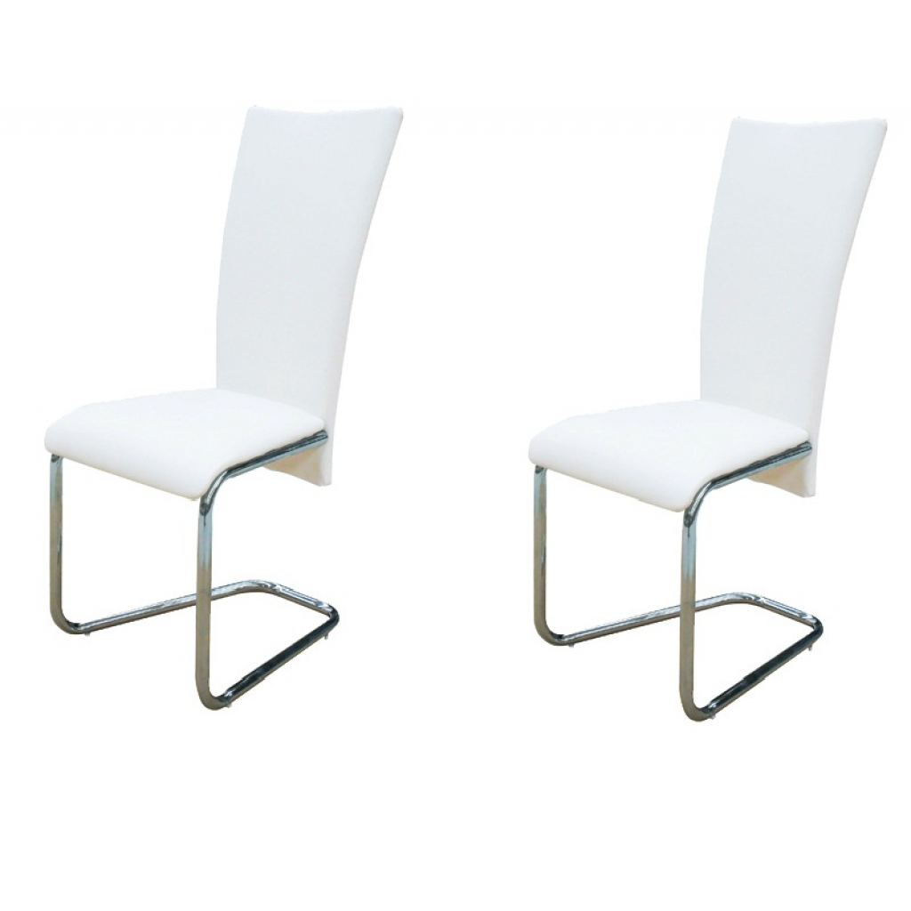 Lot de 2 chaises design blanc for Acheter chaise design