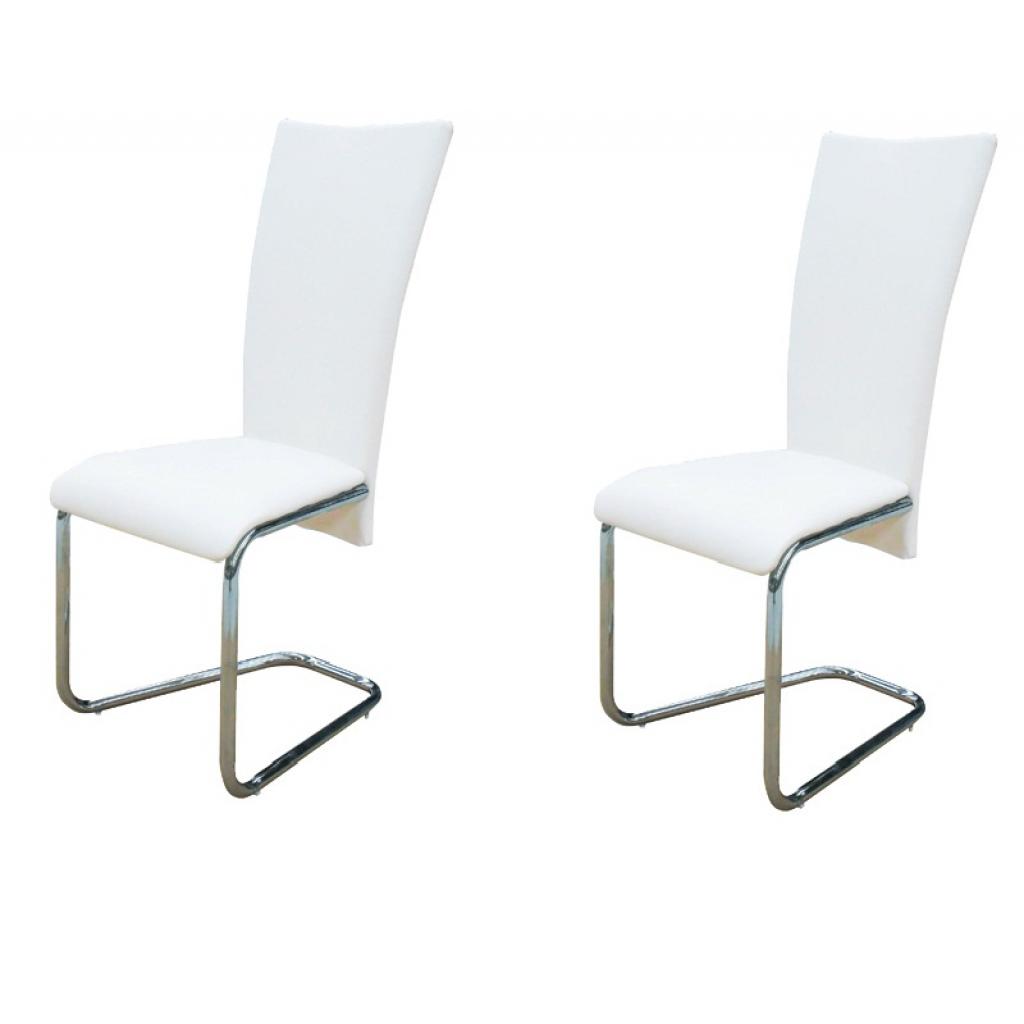 acheter chaise design lot de 2 chaises design blanc