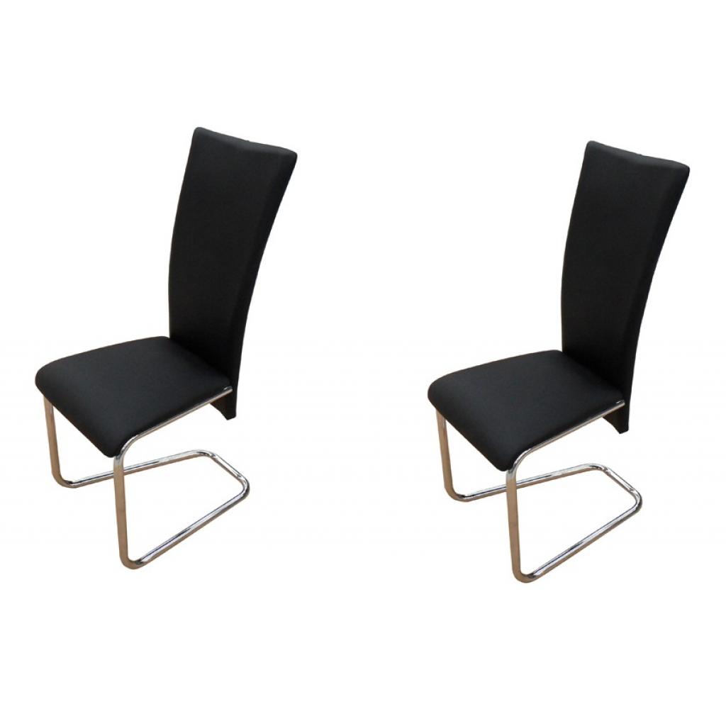 lot de 2 chaises contemporaines noir. Black Bedroom Furniture Sets. Home Design Ideas