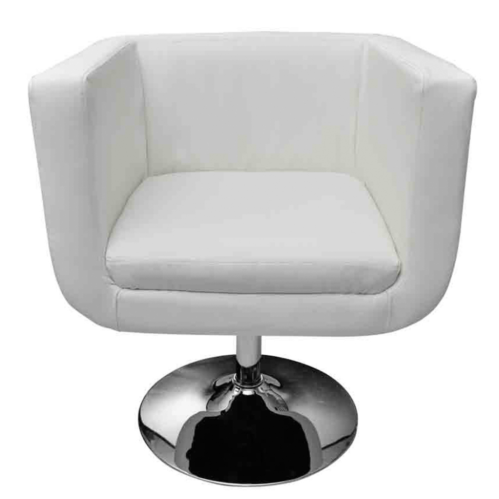 fauteuil bar blanc design moderne pieds chrom s r glable. Black Bedroom Furniture Sets. Home Design Ideas