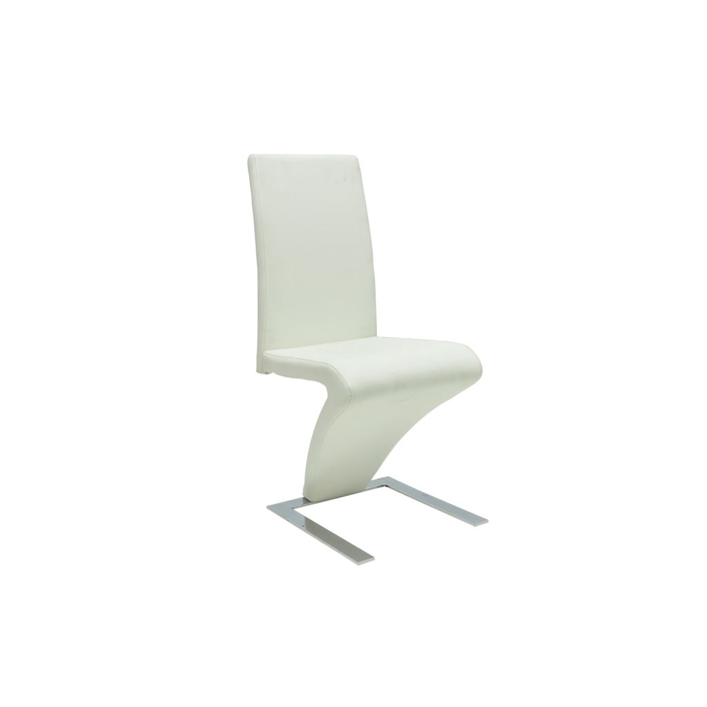 Ensemble de 2 chaises modernes blanche for Chaises blanches modernes