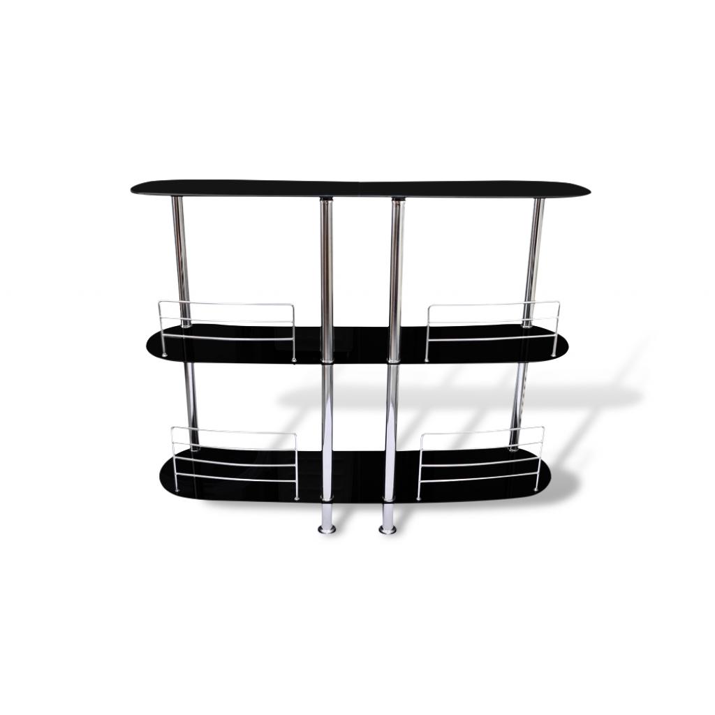meuble bar verre tremp noir. Black Bedroom Furniture Sets. Home Design Ideas