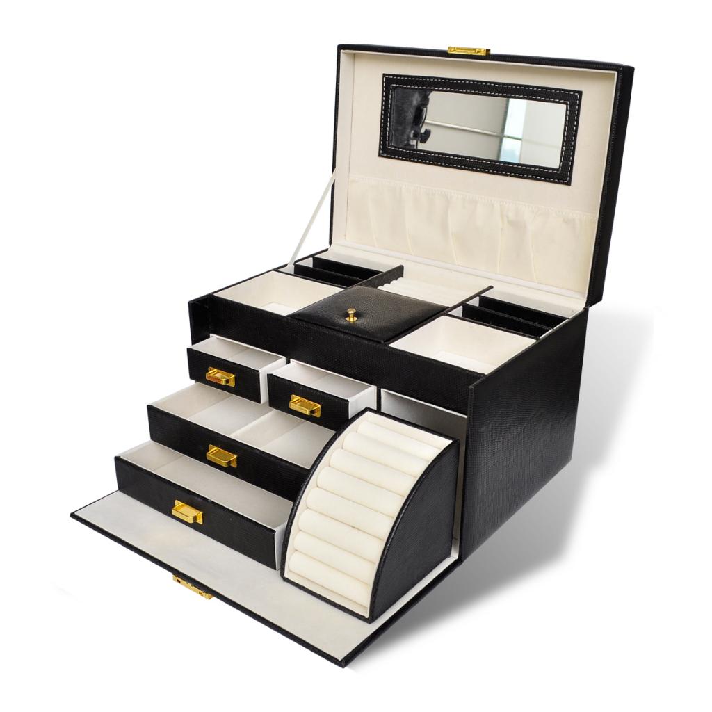 d s boite bijoux avec miroir armoire bijoux. Black Bedroom Furniture Sets. Home Design Ideas