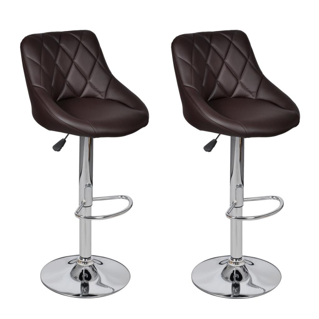lot de 2 tabourets de bar marron design moderne. Black Bedroom Furniture Sets. Home Design Ideas
