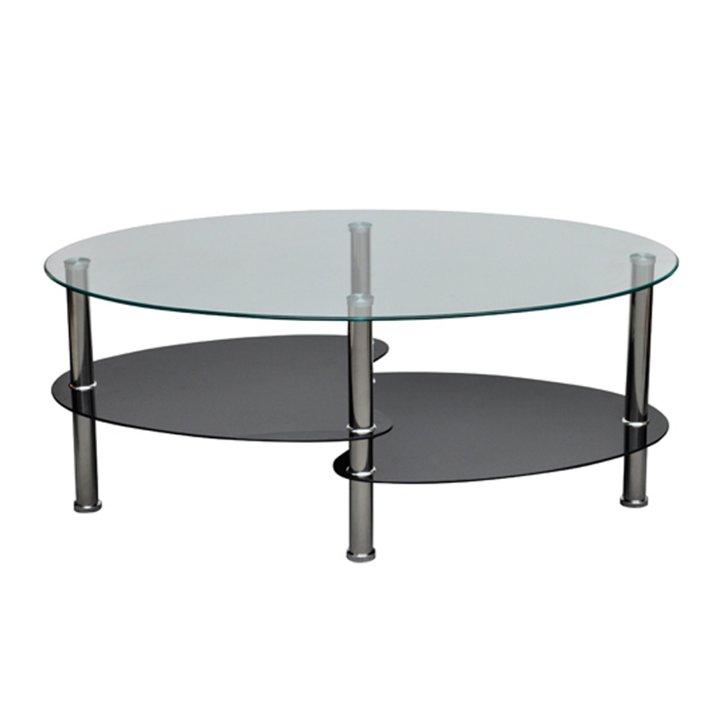 Basse Double Plateau En Verre # Table Basse Transparente