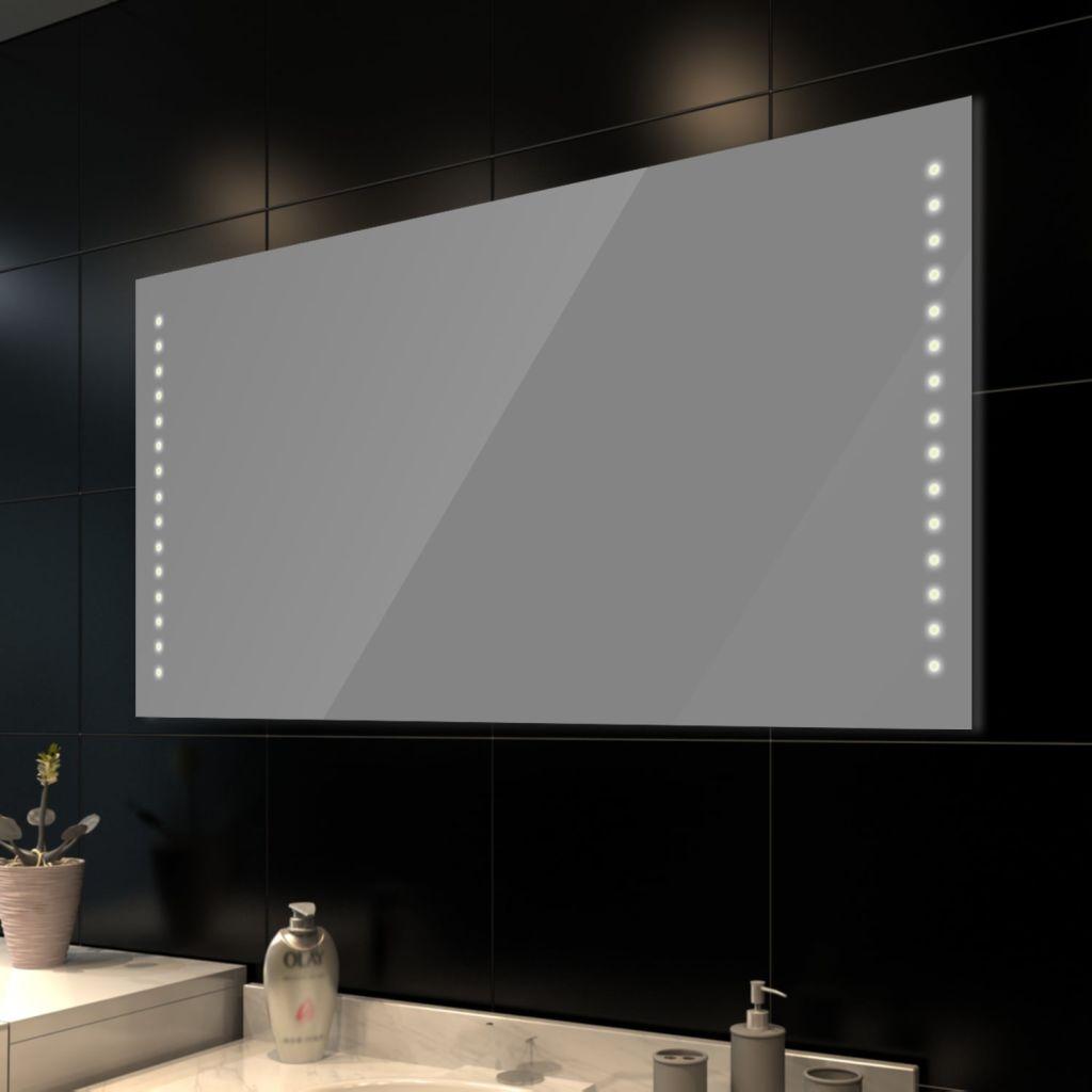 eclairage led miroir salle de bain Miroir de salle de bain avec éclairage LED 100 x 60 cm